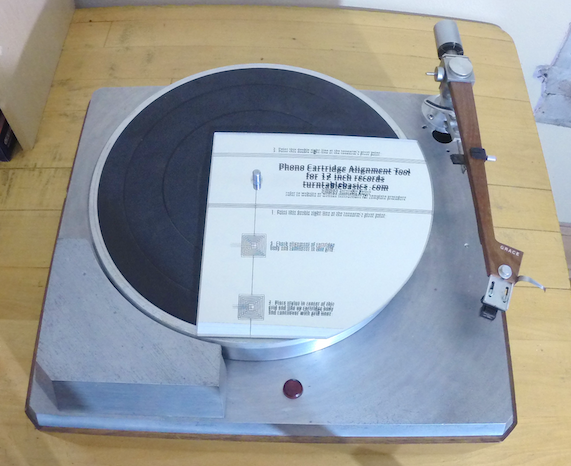 alignment gauge for 12 inch records